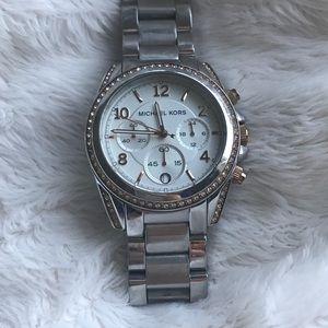 Michael Kors Crystal Stainless Steel Watch